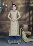 Lovely Golden Silk Plazo Churidar Suit