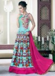 Mesmeric Pink Raw Silk Embroidered Work Designer Gown