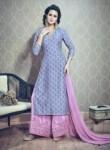 Gleaming Pink Silk Printed Work Plaoa Churidar Suit